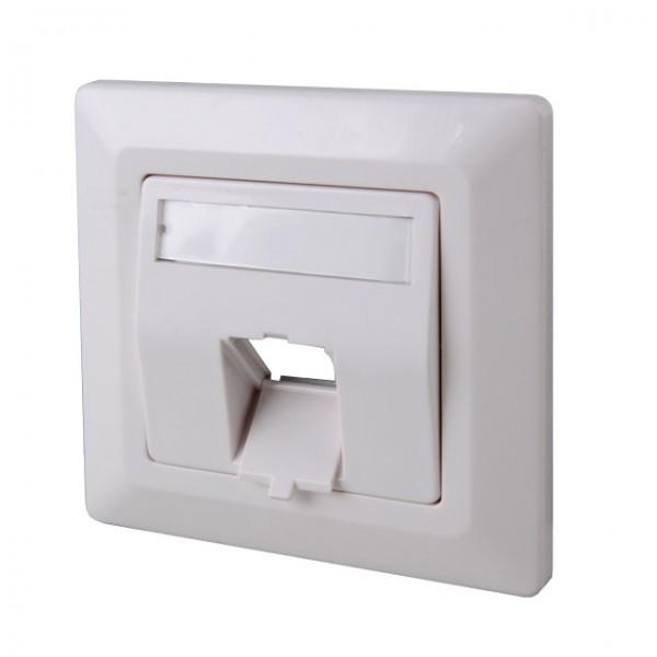 1-fach Rahmenset für Keystones Weiß