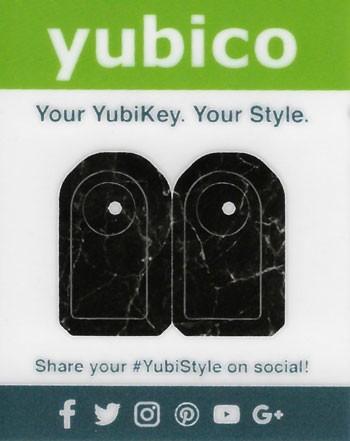 YubiStyle Cover - 5C - Schwarzer Mamor