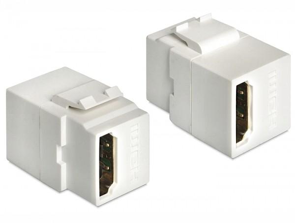 Delock 86316 Keystone Modul HDMI Buchse > HDMI Buchse weiss