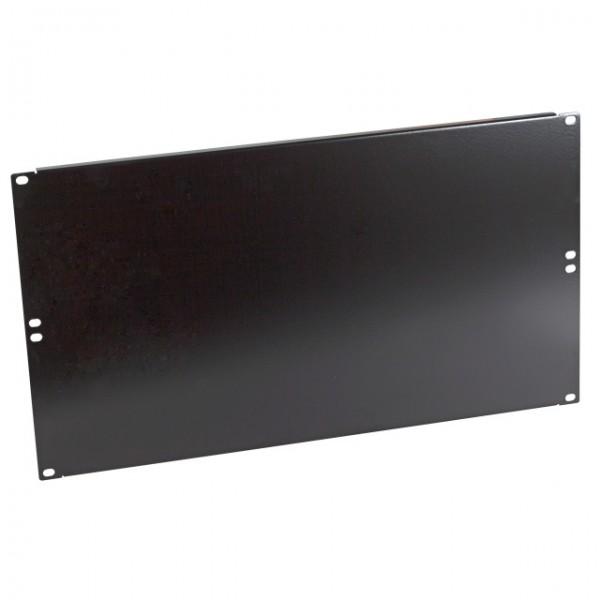 """19\"""" 6HE Blindplatte RAL9005 Schwarz"""