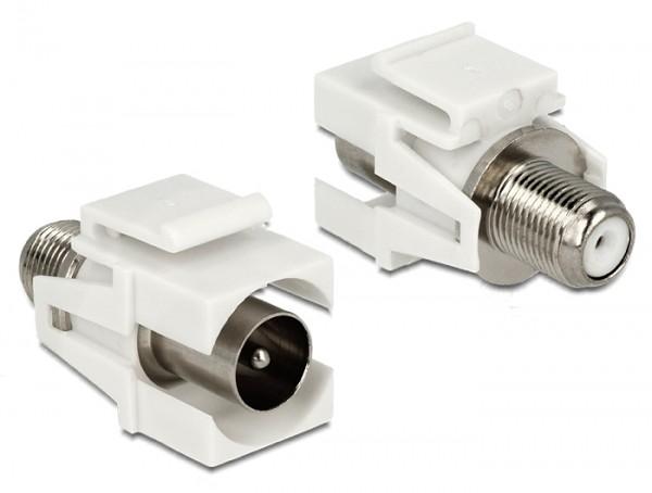 Delock 86335 Keystone Modul IEC 60169-2 Koax Stecker > F Buchse