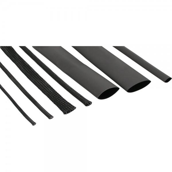 InLine Schrumpfschlauch Set / Kabelschlauch Set schwarz