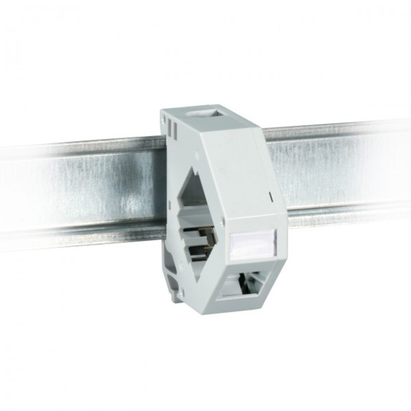 Keystone Modulhalter 1-Port für Hutschiene Kunststoff
