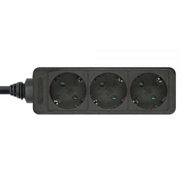 InLine® Steckdosenleiste 3-fach Schutzkontakt 1,5m, schwarz