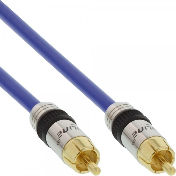 InLine® Cinch Kabel AUDIO, PREMIUM, vergoldete Stecker, 1x Cinch Stecker / Stecker