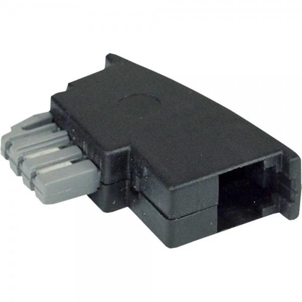 TAE-N Adapter TAE-N Stecker auf RJ11 Buchse 6P4C