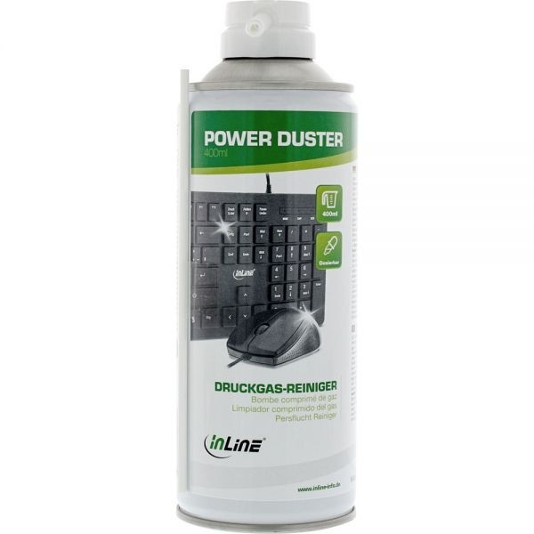 InLine® Druckluft-Reiniger Spraydose 400ml