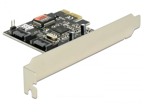 Delock PCI Express Karte > 2 x intern SATA 3 Gb/s + RAID