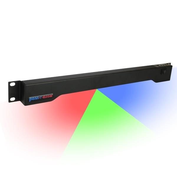 """19\"""" Rack-Beleuchtung Penn Elcom RADM-23C 1HE LED Multi-Colour"""