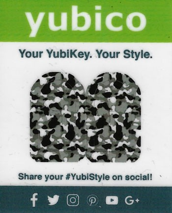 YubiStyle Cover - 5C - Urban Camo