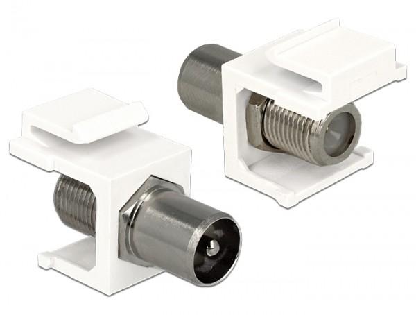 Delock 86362 Keystone Modul IEC 60169-2 Koax Stecker > F Buchse