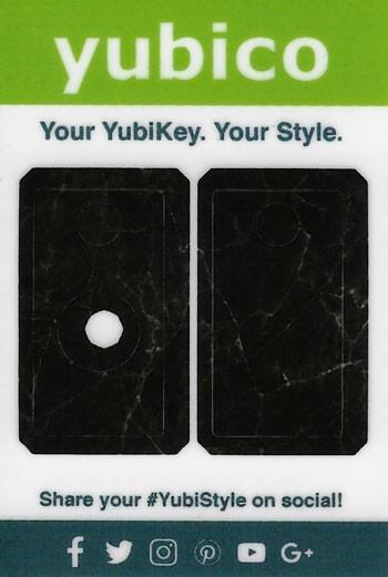 YubiStyle Cover - 5 NFC & 5C NFC - Schwarzer Mamor