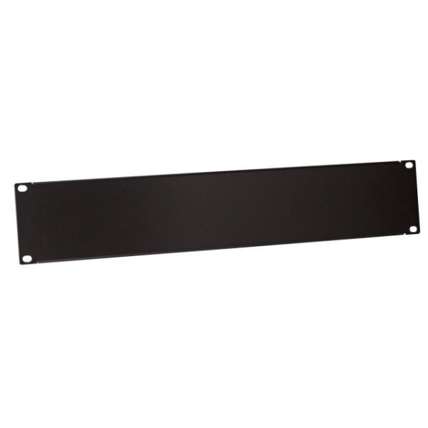 """19\"""" 2HE Blindplatte RAL9005 Schwarz"""