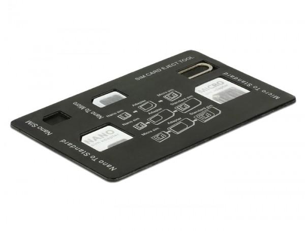 Delock 20650 4 in 1 SIM Karten Adapter Set