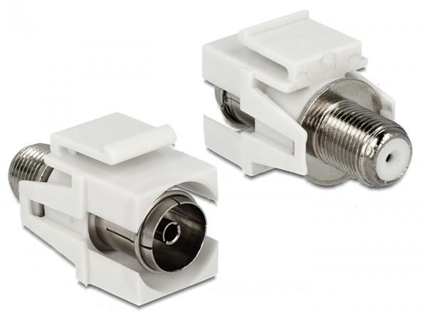 Delock 86334 Keystone Modul IEC Koax Buchse > F Buchse