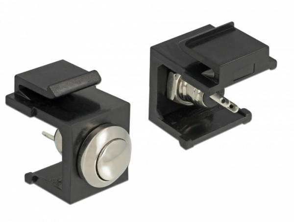Delock 86402 Keystone Drucktaster schwarz