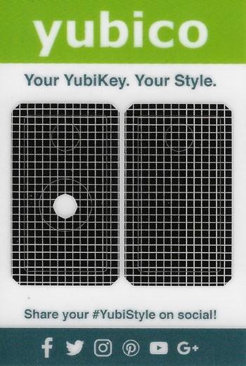 YubiStyle Cover - 5 NFC & 5C NFC - Gitter