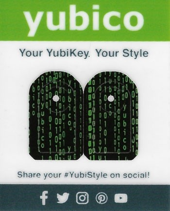 YubiStyle Cover - 5C - Code