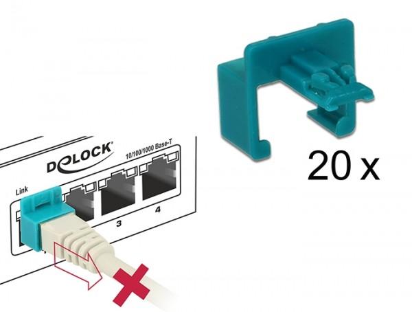 Delock 86406 RJ45 Secure Clip Starter Set 20 Stück