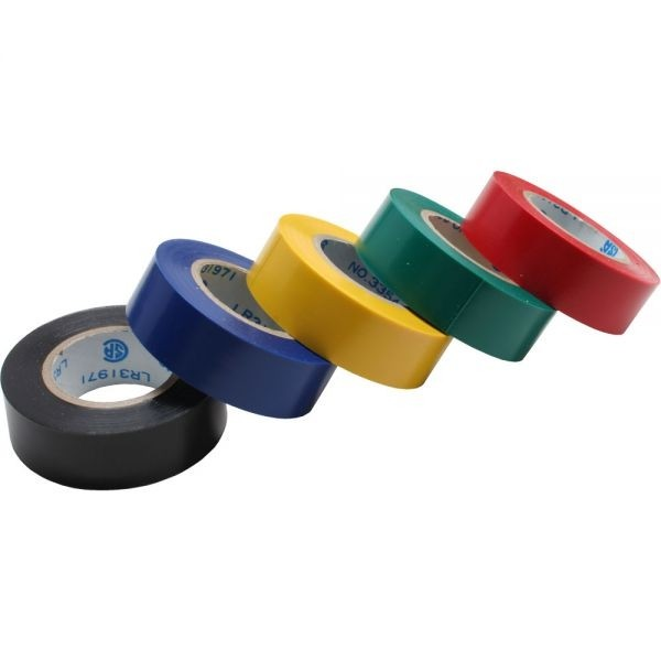 InLine® Isolierband 5er Pack div. Farben 18mm 9m