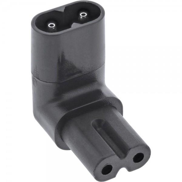 InLine Netzadapter IEC 60320 C8 / C7 oben/unten gewinkelt