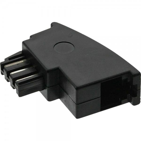 TAE-F Adapter, TAE-F Stecker auf RJ11 Buchse für Import Telefone