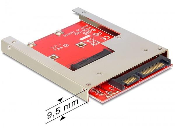Delock 61892 2.5″ Konverter SATA 22 Pin > 1 x mSATA - 9,5mm