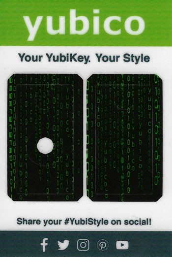 YubiStyle Cover - 5 NFC & 5C NFC - Code