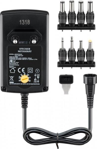 goobay 53998 Universal Steckernetzteil 100-240V auf 3-12V max. 2250mA