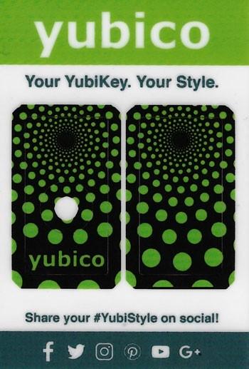 YubiStyle Cover - 5 NFC & 5C NFC - Polka Green