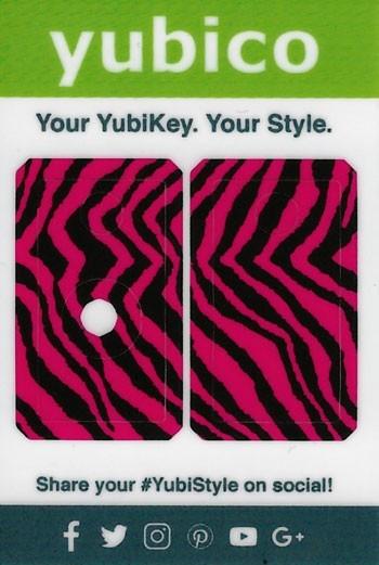 YubiStyle Cover - 5 NFC & 5C NFC - Pink Zebra