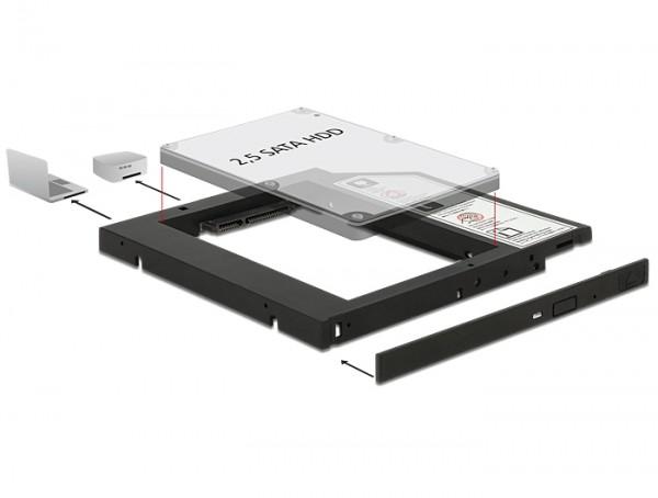 Delock Slim SATA 5.25″ Einbaurahmen (10 mm)